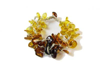 Baltic Amber Linen Falls Bracelet- 7-8 inch