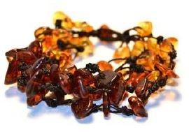 Baltic Amber Black Falls Bracelet- 7-8 inch
